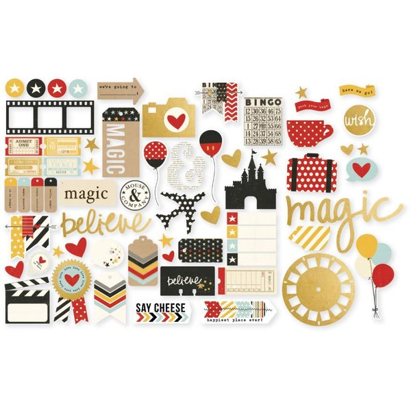 Simple Stories: Say cheese II  Bits & Pieces Die-Cuts with gold accents (SAY4329)