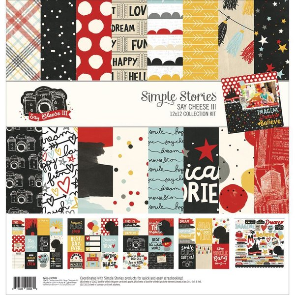 "Simple Stories Say Cheese III collection Kit 12""X12"" (SAY37900)"