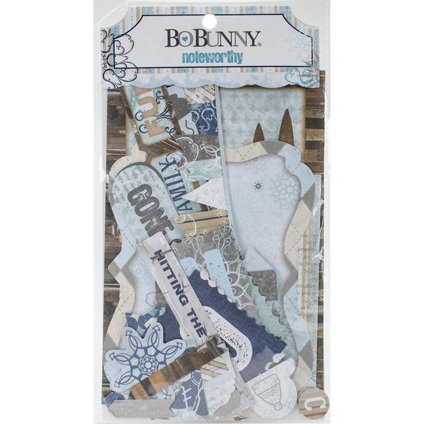 BoBunny: Whiteout Noteworthy Die-Cuts (20341)