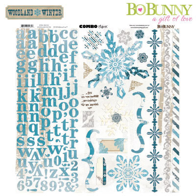 BoBunny: Woodland Winter Combo Stickers (15503135)