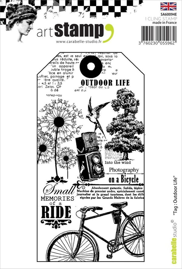 Carabelle Studio stamp tag outdoor life (SA60094E)