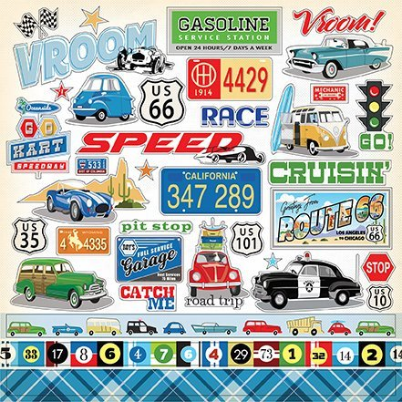 Carta Bella: Cartopia Stickers (CBCAR69014)
