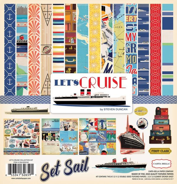"Carta Bella: Let's Cruise Collection Kit  12x12"" (CBLC65016)"