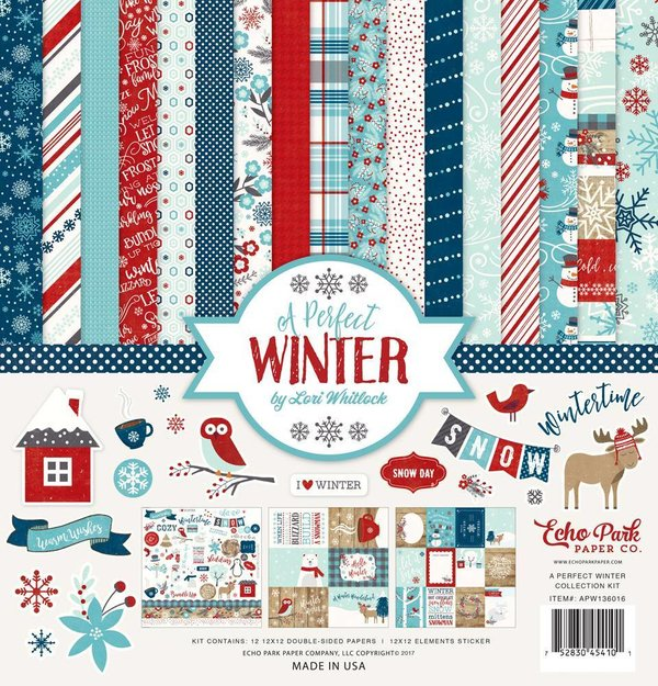 "Echo Park: A Perfect Winter Collection Kit 12X12"" (APW136016)"