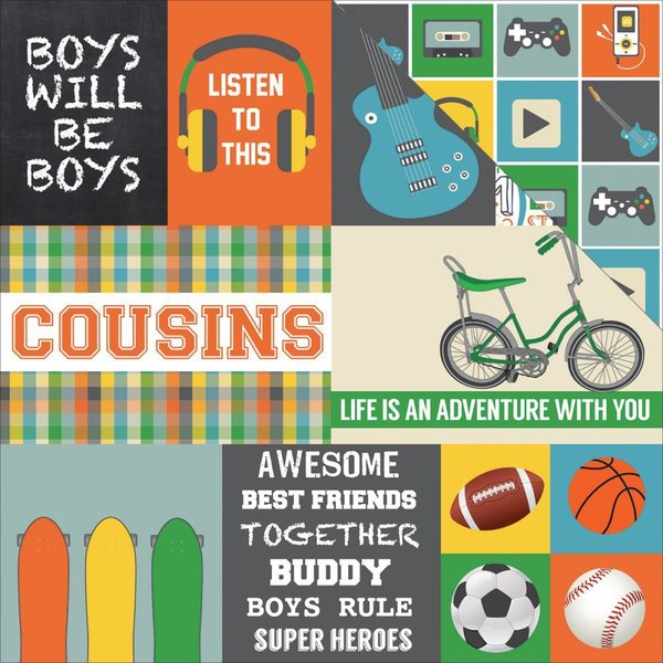 Echo Park: Boy Cousin Journaling Cards (SW7602)
