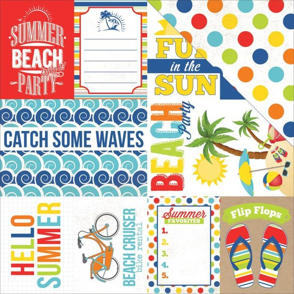 Echo Park: Beach Party Journaling Cards (SW5702)