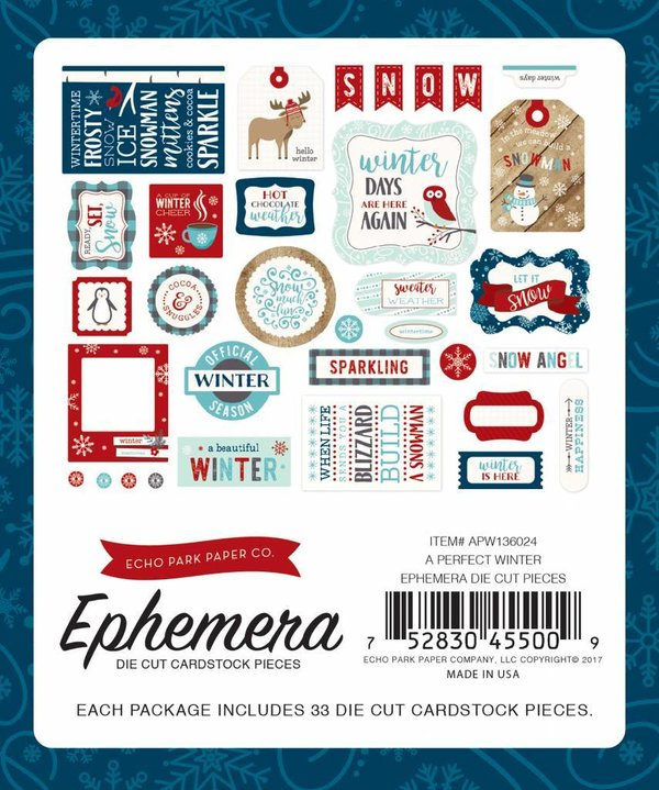 Echo Park: A Perfect Winter die cut (APW136024)