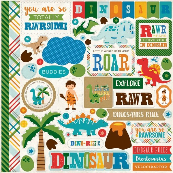 Echo Park: Dino Friends Stickers (DF102014)
