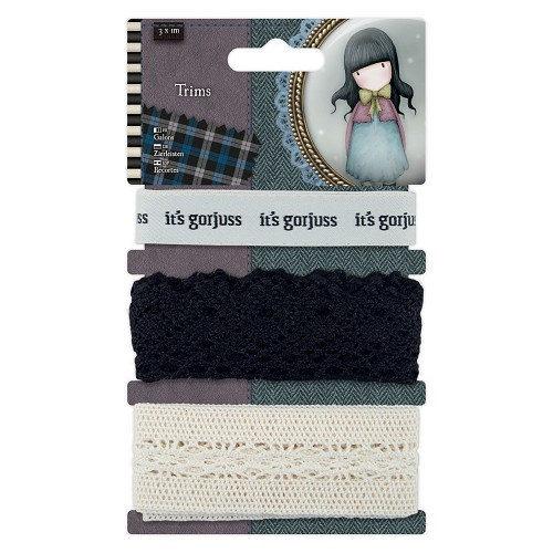 Gorjuss 1m Trims (3pcs) - Santoro Tweed (GOR 358333)