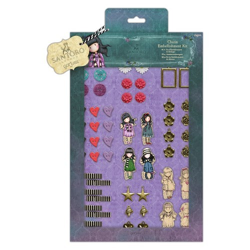 Gorjuss: Charm Embellishment Kit (64pcs) - Santoro (GOR 356000)