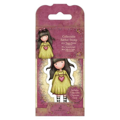 Gorjuss Collectable Mini Rubber Stamp - Santoro - No. 24 Heartfelt (GOR 907404)
