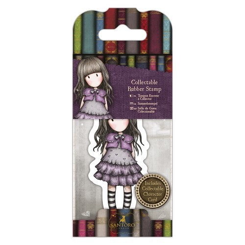 Gorjuss Collectable Mini Rubber Stamp - Santoro - No. 32 Little Violet (GOR 907412)