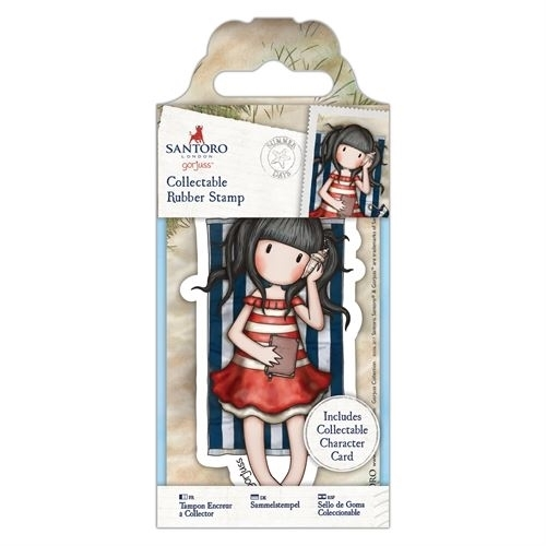 Gorjuss Collectable Mini Rubber Stamp - Santoro - No. 42 Summer Days (GOR 907141)