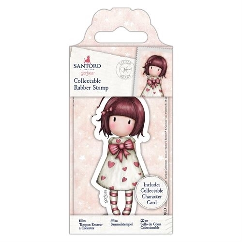 Gorjuss Collectable Mini Rubber Stamp - Santoro - No. 57 Little Heart (GOR 907156)