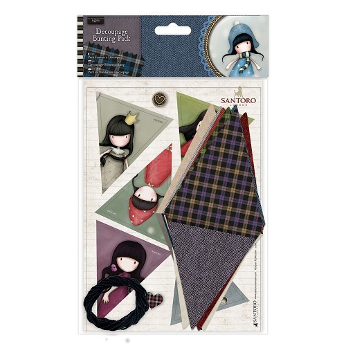 Gorjuss: Decoupage Bunting Pack - Santoro Tweed (GOR 169122)