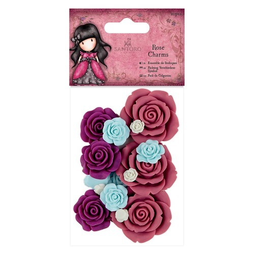 Gorjuss: Rose Charms (20pcs) - Santoro (GOR 356104)