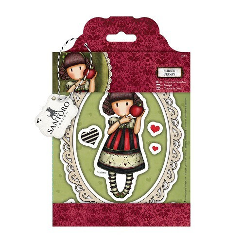 Gorjuss Rubber Stamps - Santoro - Dear Apple (GOR 907201)