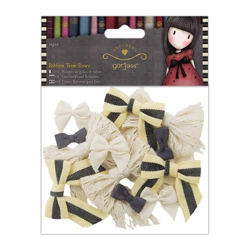 Gorjuss Ribbon Trim Bows (12pcs) (GOR 367103)