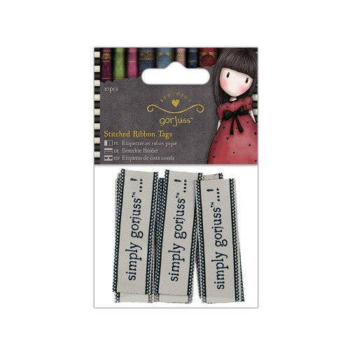 Gorjuss Stitched Ribbon Tags (10 pcs) (GOR 157107)