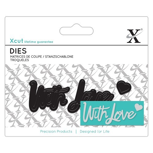 Xcut: Mini Sentiment Die (3pcs) - With Love (XCU 504037)