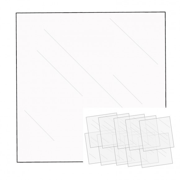"We R Memory Keepers FUSEables Fuse Clear Sheets 12""X12"" 10/Pkg (WR660871)"