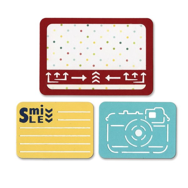 Sizzix thinlits die set 3pk smile for the camera (659755)