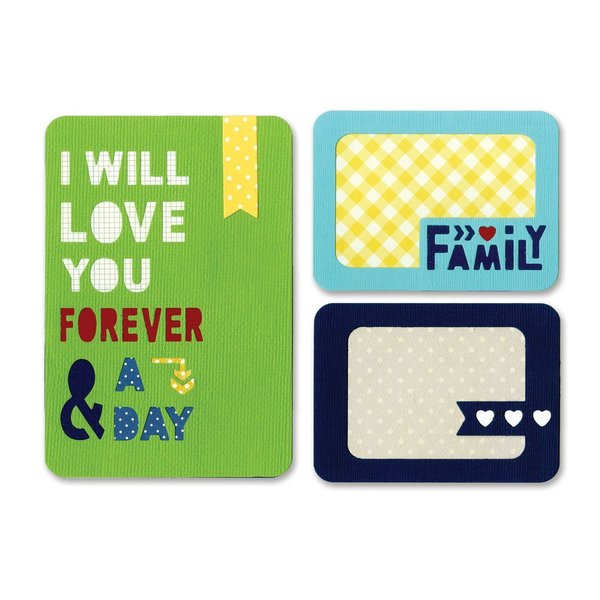 Sizzix thinlits die set 3pk forever & a day (659749)