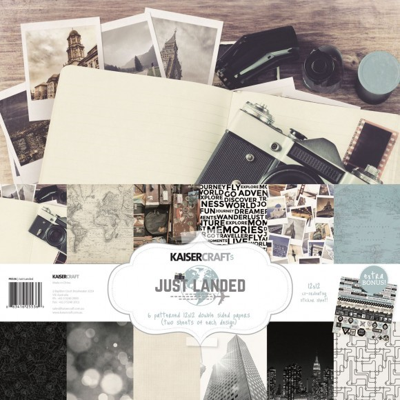 "kaisercraft Just Landed  - paper pack 12x12"" (PK536)"
