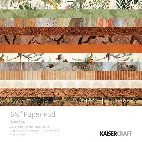 "Kaisercraft: Open road - paper pad  6,5*6,5"" (PP1034)"