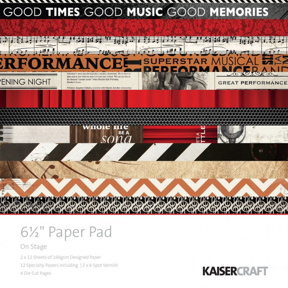 Kaisercraft: On stage paper pad 16,5x16,5cm