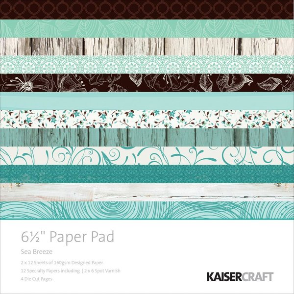 "Kaisercraft: Sea Breeze paper pad 6,5x6,5"" (PP994)"