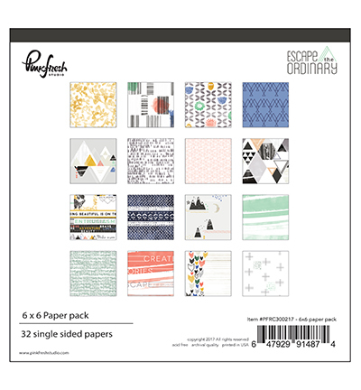 Pinkfresh: Escape the ordinary collection paper pack 6 x 6inch (PFRC300217)