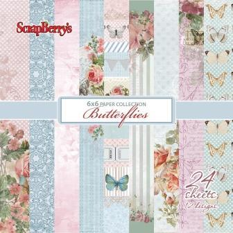 "Scrapberry's: Butterflies Paper Collection Set 6*6"" (SCB220606614)"