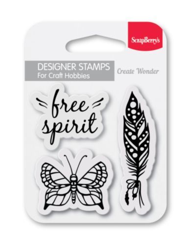 Scrapberry's: Free Spirit Clear Stamp (SCB4907107)