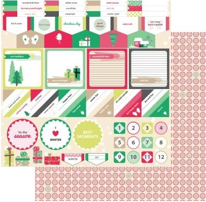 Scrapberry's: Happy Holiday Accents ENG (SCB220605508B)