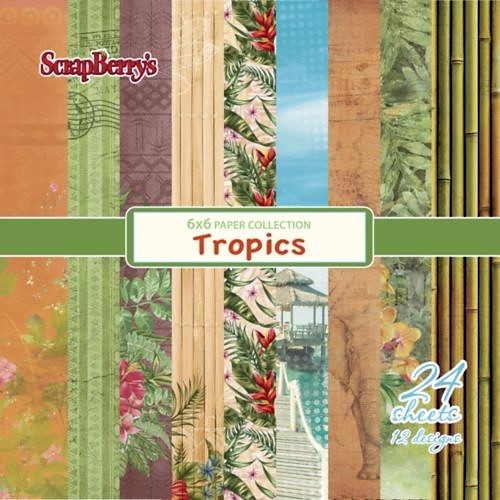 Scrapberry's: Tropics Paper Collection Set 6*6 (SCB220609408X)
