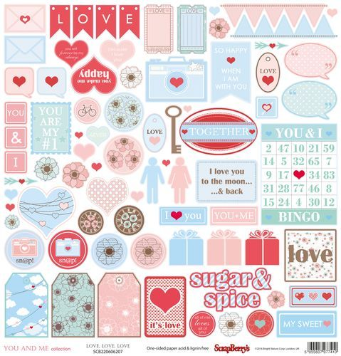 Scrapberry's: You And Me - Love, Love, Love (SCB220606207)