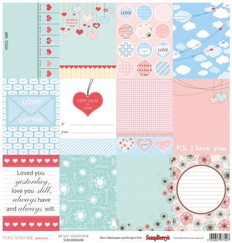 Scrapberry's: You And Me - Be My Valentine (SCB220606208)