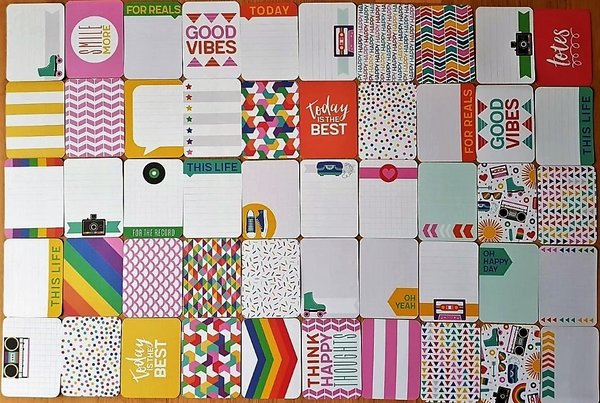 Project Life: Awesome 50 st 3''x4'' journalings cards