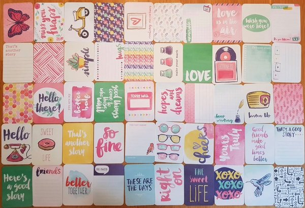Project Life: Better Together 50st 3''x4'' journaling cards