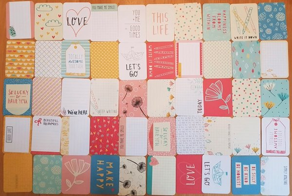 Project Life: Doodle 50st 3''x4'' journaling cards