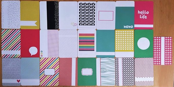 Project Life: Confetti 25st 4''x6'' journalings cards (380435D)