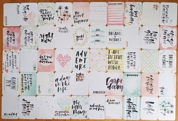 Project Life: Inspire 50st 3''x4'' journaling cards