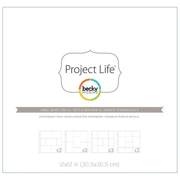 Project Life: Project Life Photo Pocket Pages Small Variety Pack 6 12/Pkg (380263)
