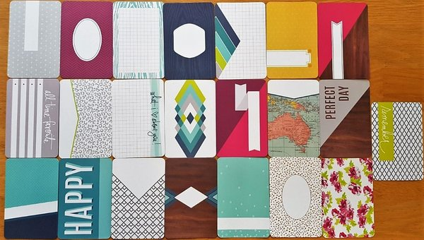 Project Life: Prismatic 22st + 1 special 4''x6'' journalings cards
