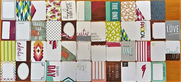 Project Life: Prismatic 46 st + 2 specials 3''x4'' journaling cards