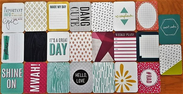Project Life: Prismatic 23 st 3''x4'' journaling cards (312075A)
