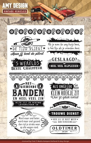 Amy Design Vintage Vehicles - Tekst (ADCS10013)