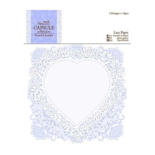 Papermania: Capsule - French Lavender - Lace Paper (12pcs) (PMA 160710)