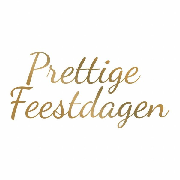Couture Creations Hotfoil Stamp Prettige Feestdagen (CO725552)